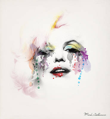 Actors Painting - Marilyn Monroe by Mark Ashkenazi