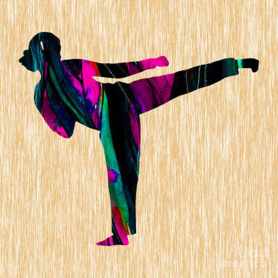 Martial Arts Karate Art Print by Marvin Blaine