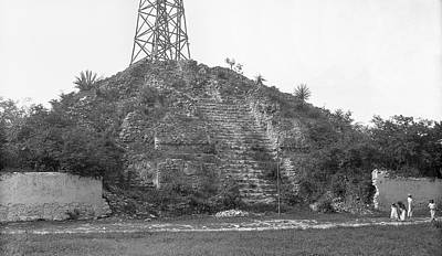 1910s Photograph - Mayan Temple Ruins by American Philosophical Society