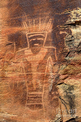 Abstract Male Faces - McConkie Ranch Petroglyph - Utah by Gary Whitton