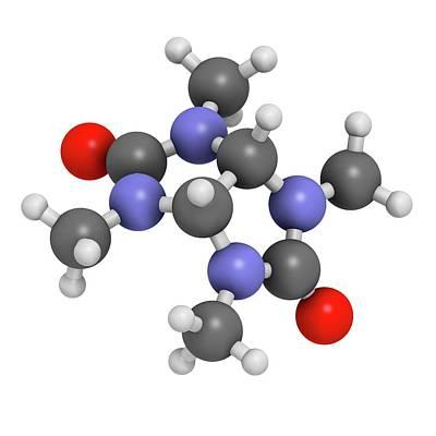 Mebicar Anxiolytic Drug Molecule Art Print