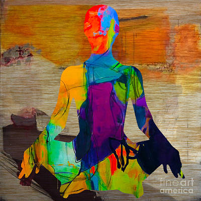 Namaste Mixed Media - Meditation by Marvin Blaine