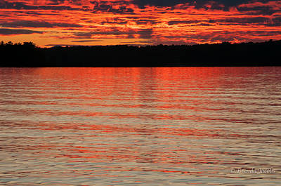 Photograph - Melvin Bay Sunset by Brenda Jacobs
