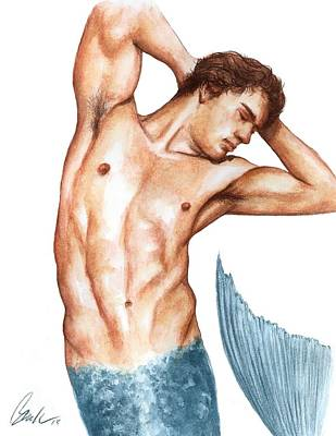 Painting - Merman by Bruce Lennon