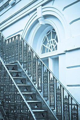 Metal Stairs Art Print by Tom Gowanlock