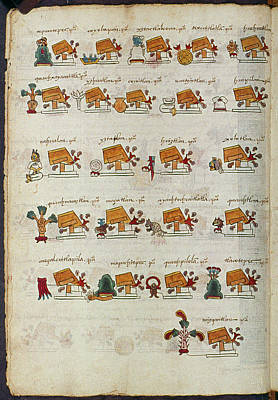 Pictograph Painting - Mexico Aztec Codex by Granger