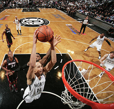Photograph - Miami Heat V Brooklyn Nets - Game 3 by Nathaniel S. Butler