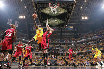 Photograph - Miami Heat V Indiana Pacers - Eastern by Nathaniel S. Butler
