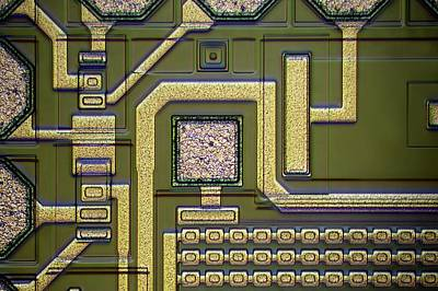 Integrated Photograph - Microchip Surface by Frank Fox