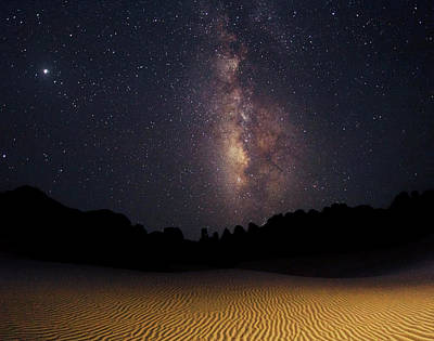 Milky Way Over The Sahara Desert Art Print by Babak Tafreshi
