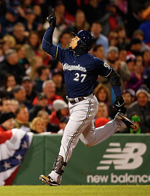 Photograph - Milwaukee Brewers V Boston Red Sox by Jared Wickerham