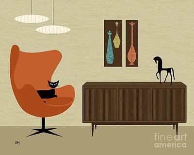 Chairs Digital Art - Mini Mosaics by Donna Mibus