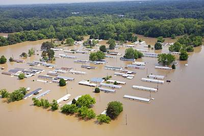 Mississippi River Floods, 2011 Art Print by Science Photo Library