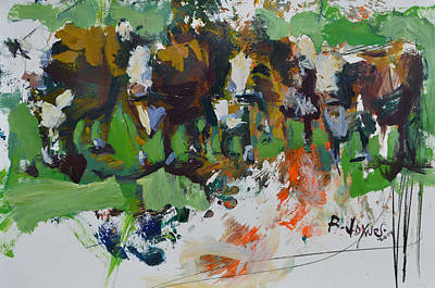 Painting - Modern Abstract Cow Painting by Robert Joyner
