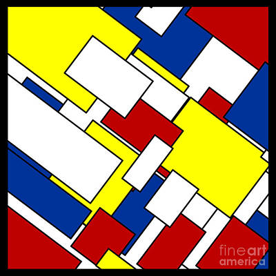 Mondrian Rectangles Art Print by Celestial Images