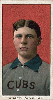 Baseball Portraits Drawing - Mordecai Brown (1876-1948) by Granger