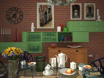 My Art In The Interior Decoration - Elena Yakubovich Art Print