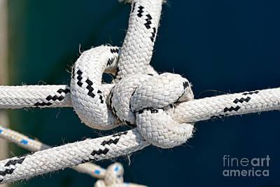 Rope Photograph - Nautical Knots by George Atsametakis
