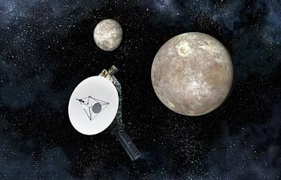 New Horizons At Pluto Art Print by Take 27 Ltd