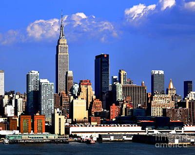 Photograph - New York City Skyline With Empire State by Kathy Flood