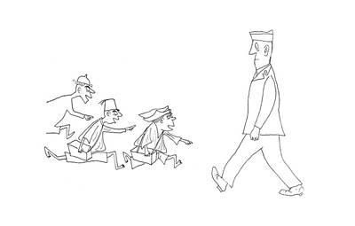 G.i Drawing - New Yorker April 15th, 1944 by Saul Steinberg