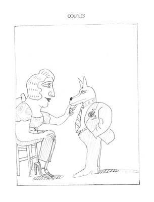 New Yorker February 20th, 1995 Art Print by Saul Steinberg