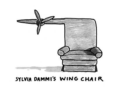Chair Drawing - New Yorker November 30th, 1992 by Michael Crawford