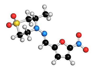 Nifurtimox Antiparasitic Drug Molecule Art Print