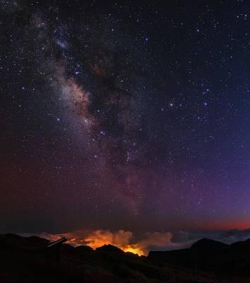 La Galaxy Photograph - Night Sky Over La Palma by Babak Tafreshi