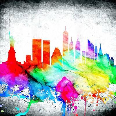 New York City Skyline Mixed Media - Nyc Skyline by Daniel Janda