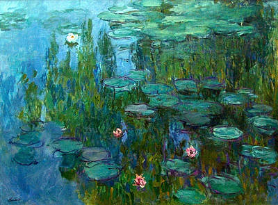 Art Print featuring the painting Nympheas  by Claude Monet