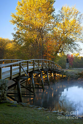 Historic Site Photograph - Old North Bridge Concord by Brian Jannsen