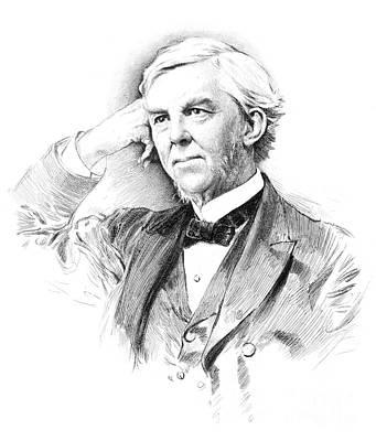 Oliver Wendell Holmes (1809-1894) Art Print by Granger