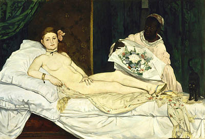 Nude Digital Art - Olympia by Edouard Manet