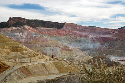Inc Photograph - Open-cast Copper Mine by Jim West