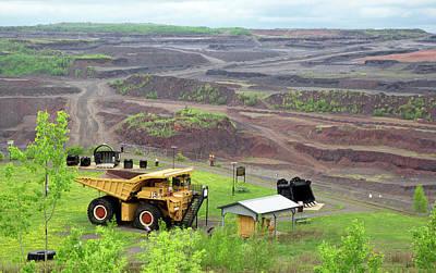 Open Pit Iron Mine Art Print by Jim West
