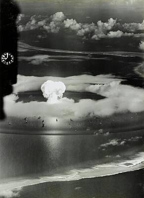 Atom Photograph - Operation Crossroads Atom Bomb Test by Library Of Congress