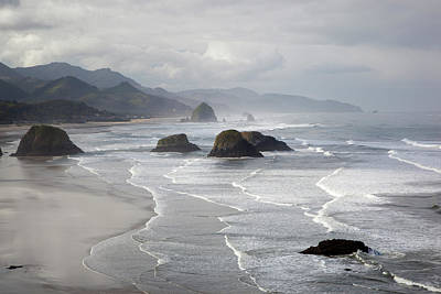 Land And Sea Photograph - Or, Oregon Coast, Ecola State Park by Jamie and Judy Wild