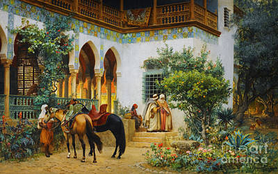 Ottoman Daily Life Scene Art Print by Celestial Images