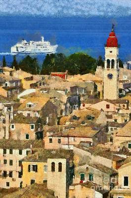 Painting - Old City Of Corfu by George Atsametakis