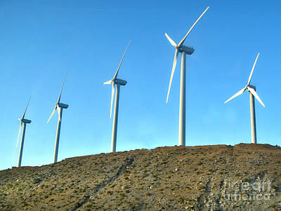 Photograph - Palm Desert Wind Mills by Gregory Dyer