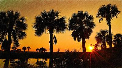 Photograph - 4 Palms Sunset by Richard Zentner