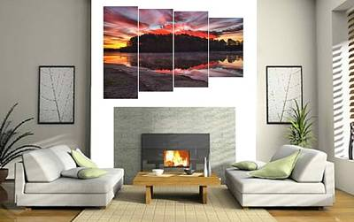 Photograph - 4-panel - A Christmas Eve Sunrise by Gordon Elwell