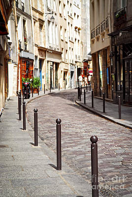 Stone Buildings Photograph - Paris Street by Elena Elisseeva