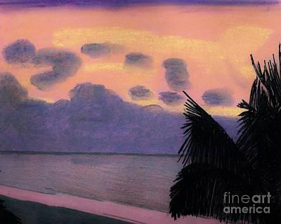 Pastel Palm Tree Sunrise Art Print