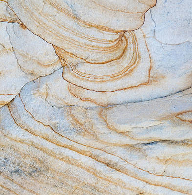 Vertical Abstract Photograph - Pattern Of Layers On Sandstone Rock by Panoramic Images