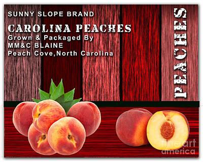 Peach Mixed Media - Peach Farm by Marvin Blaine