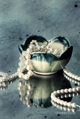 Jewelry Photograph - Pearls by HD Connelly