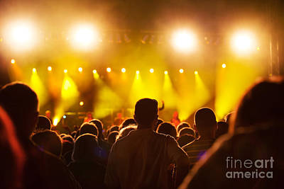 Photograph - People On Music Concert by Michal Bednarek