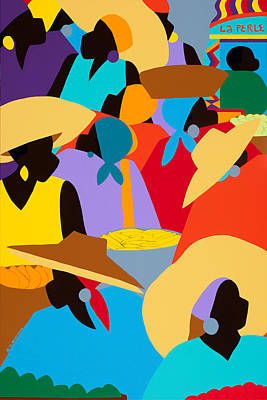 Wall Art - Painting - Petion-ville Market I by Synthia SAINT JAMES